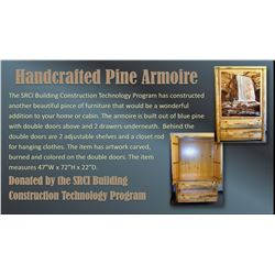 Handcrafted Pine Armoire