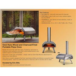Ooni Karu Wood & Charcoal Fired Portable Pizza Oven with training on how to use.