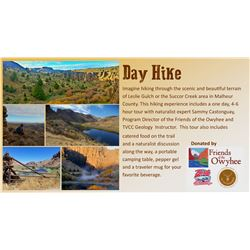Imagine hiking through the scenic and beautiful terrain of Leslie Gulch or the Succor Creek area in