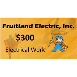 $300 Electrical Work Certificate