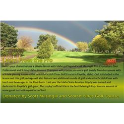 Learn from the Pro - Here's your chance to take a private lesson with Idaho golf legend Scott Masing