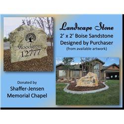 Landscape Stone - 2'x2' Boise Sandstone Designed by Purchaser