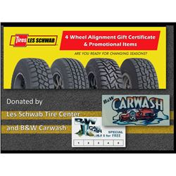 Four Wheel Alignment Gift certificate & Promotional Items and Car Wash Punch Card (5 car washes)