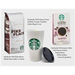 Coffee Mug, Via Instant Iced Coffee, and Starbucks 16oz bag of Coffee