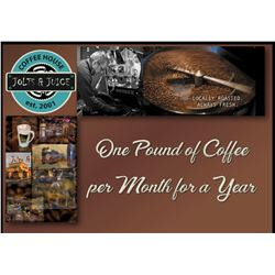 Gift Certificates for One Pound of Coffee per Month for a Year