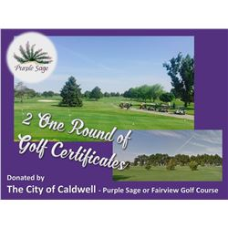 Two Vouchers for One Round of Golf at Purple Sage or Fairview Golf Courses for October 1, 2020 - Sep
