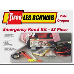 Emergency Road Kit - 52 Piece