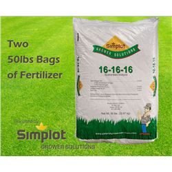 Two 50lbs Bags of Fertilizer