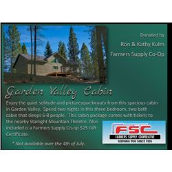 Enjoy the quiet solitude and picturesque beauty from this spacious cabin in Garden Valley. Spend two