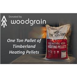 One Ton Pallet of Timberland Heating Pellets