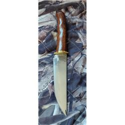 Hand forged Hunting knife and custom made sheath