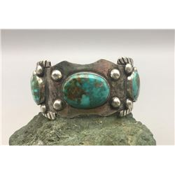 Sterling Silver and Turquoise Bracelet by Richard Henry Yazzie