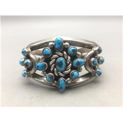 Beautiful Cluster Bracelet with Persian Turquoise