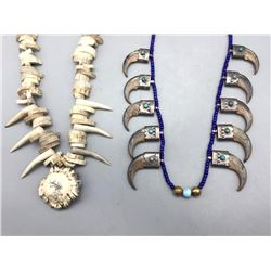 Bone, Claw, Antler and  Trade Bead Necklaces