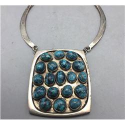 19 Stone Turquoise Necklace