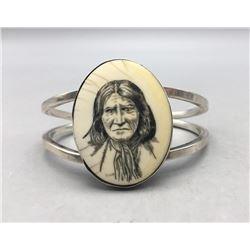 Geronimo Scrimshaw Bracelet