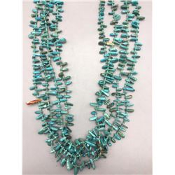 Older Fine Turquoise and Heishi 4 Strand Necklace