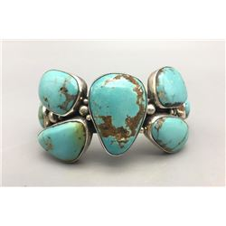 Turquoise Bracelet Shaped Like a Butterfly