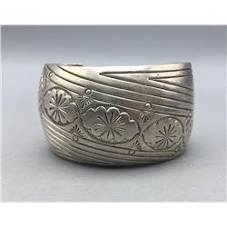 Sterling Silver Bracelet by Gilbert Begay