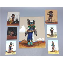 Group of 7 Original Mini-Size Paintings