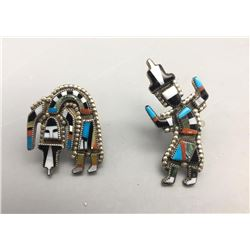 2 Rainbow Man Inlay Rings