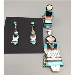 Zuni Inlay Olla Maiden Set