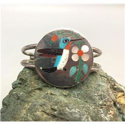 Zuni Inlay Hummingbird Bracelet