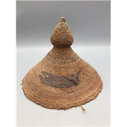 Late 1800s Nootka Basketry Hat