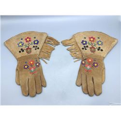 Pair Vintage Beaded Gauntlets