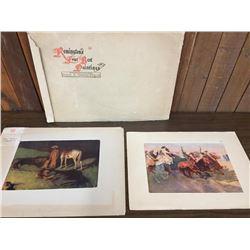 2 Vintage Remington Artists Proofs