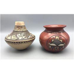 Hopi and Santa Clara Pots