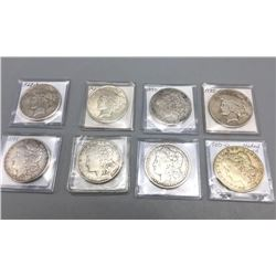 8 Silver Dollars