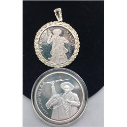 2 Poncho Villa Coins Making 3oz Of .999 Silver