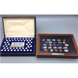 Numerous Sterling Silver Mini Proof Coin and Sterling Silver Flags