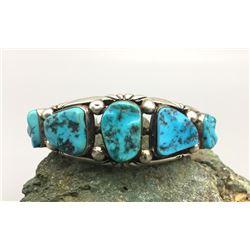5 Stone Turquoise Bracelet