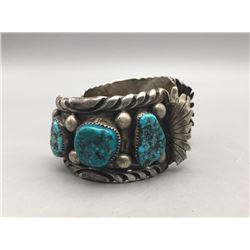 Larger 6-Stone Turquoise Watch Cuff