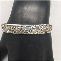 Sterling Silver Horse Theme Story Teller Bracelet