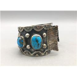 Vintage 4 Stone Turquoise  Watch Bracelet