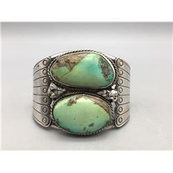 Vintage 2 Stone Cuff Bracelet