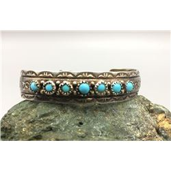 Sterling Silver and Turquoise Bracelet - Yazzie