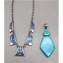 Inlay Pendant and Inlay Necklace