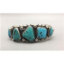Vintage 5 Stone Turquoise Bracelet