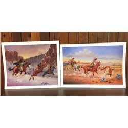Two Signed Prints by Robert Yellowhair