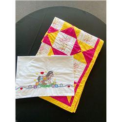 Duckies Baby Quilt & Crib Sheet