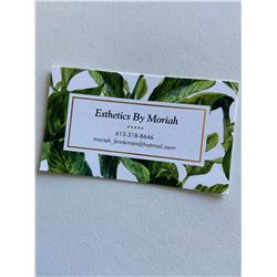 Esthetics by Moriah $50 Gift Certificate