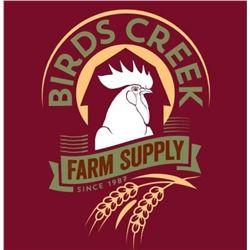 Five:  50lb bags of Bird Seed