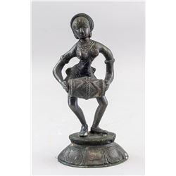 Southeast Asian Bronze Drum Player Statue