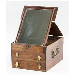 Chinese Huali Wood Carved Jewellery Box