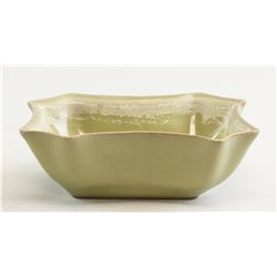 Chinese Guan-Style Lobed Porcelain Bowl
