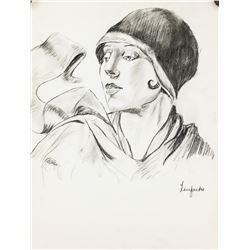 Tamara de Lempicka Polish Art Deco Pencil on Paper